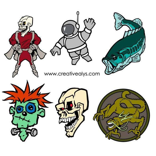 Monsters Vector Pack   Download At Vectorportal