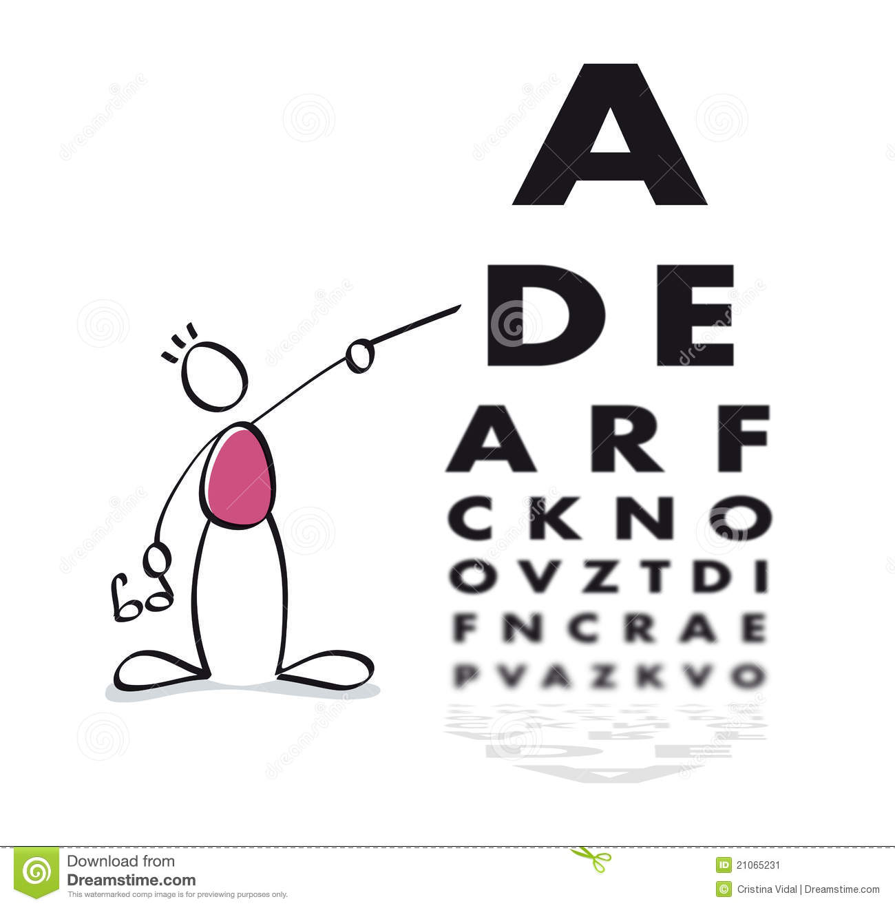 More Similar Stock Images Of   Funny Vision Test