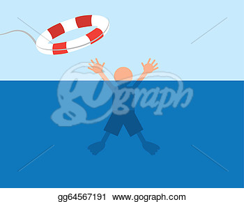 Person Saved After Almost Drowning In Water  Clipart Gg64567191