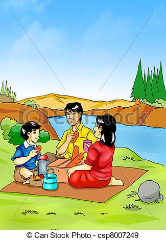 Stock Illustration   Picnic   Stock Illustration Royalty Free