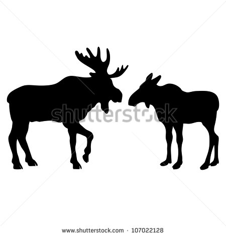moose silhouettes moose silhouette clipart clipart suggest 5361