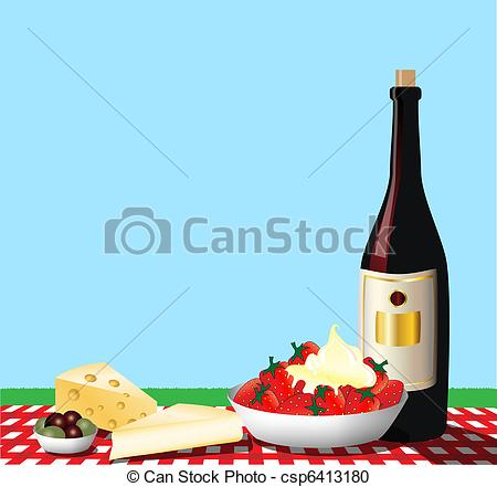 Vector Clipart Of Picnic   A Vector Illustration Depicting A Picnic On