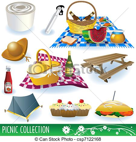 Vector Of Picnic Collection Set   Collection Of Different Picnic