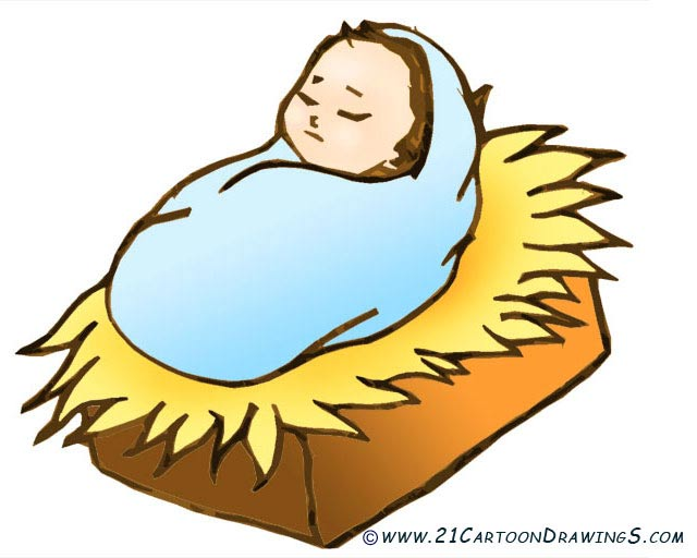 Baby Jesus Christ   21 Cartoon Drawings