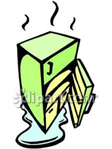 Broken Refrigerator   Royalty Free Clipart Picture