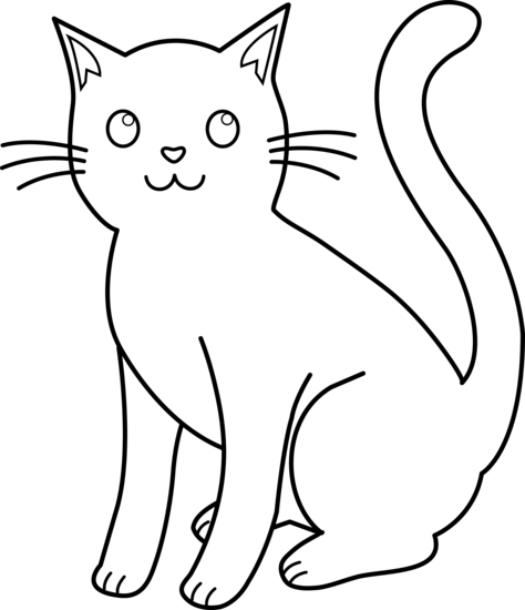 Cat Outline Clip Art   Cliparts Co