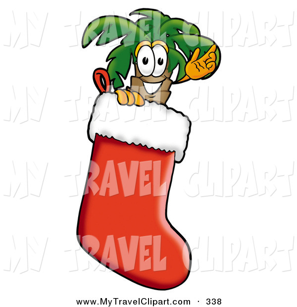 Clipart Of A Smiling Tropical Palm Tree Mascot Cartoon Character