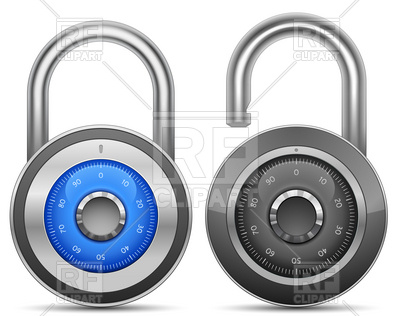 Combination Lock 5725 Objects Download Royalty Free Vector Clipart