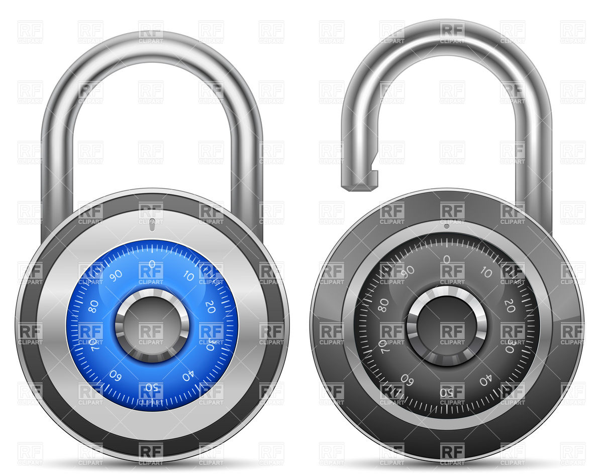 Combination Lock Download Royalty Free Vector Clipart  Eps