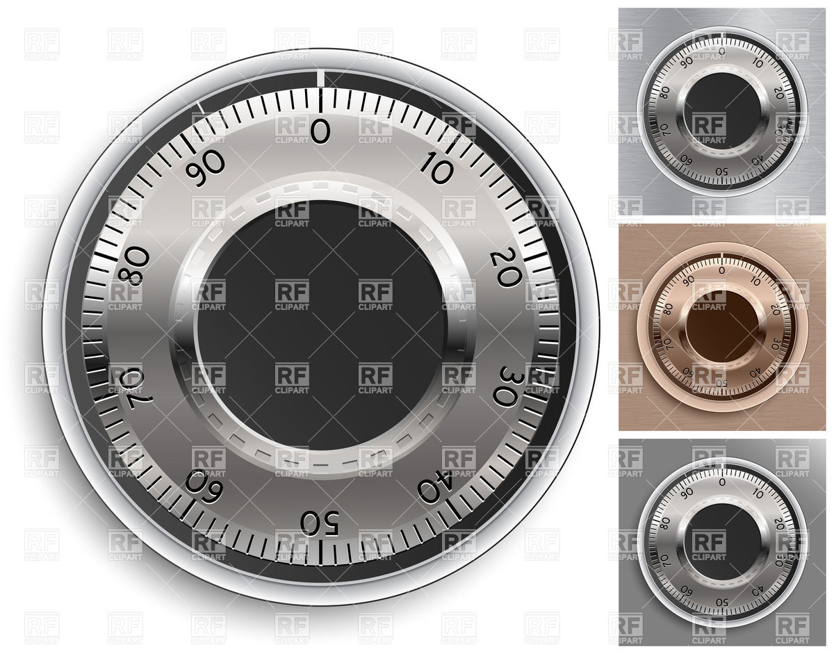 Combination Lock Handle Download Royalty Free Vector Clipart  Eps