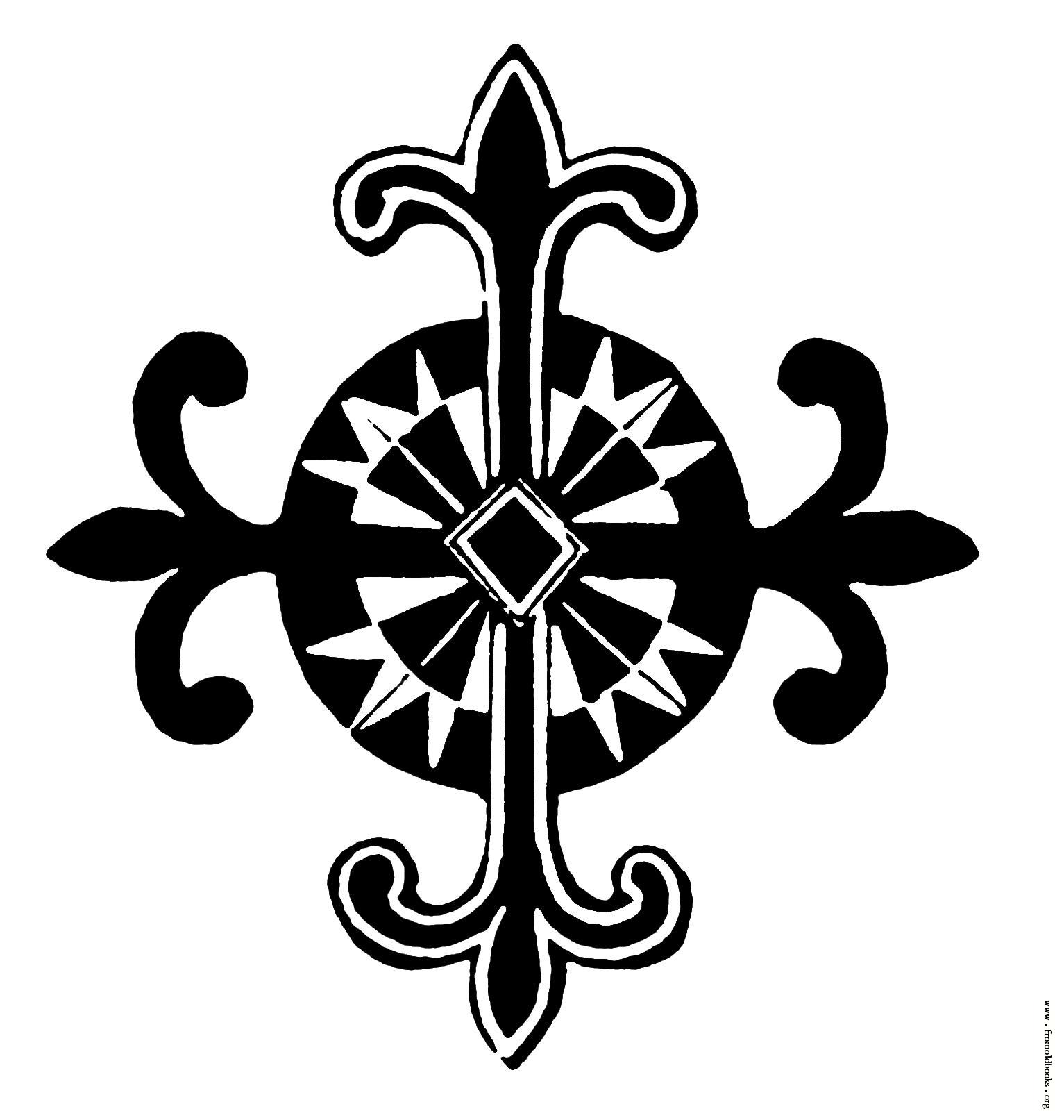 Decorative Cross Clipart Clipart Suggest