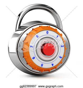 Drawing   Combination Lock  Clipart Drawing Gg62389997