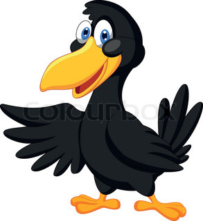 Funny Crow   Vector   Colourbox