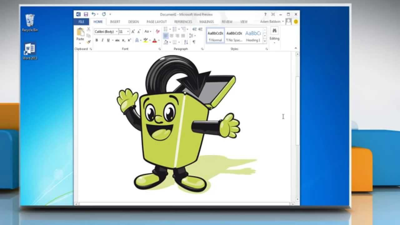 How To Insert A Clip Art In Microsoft  Word 2013   Youtube
