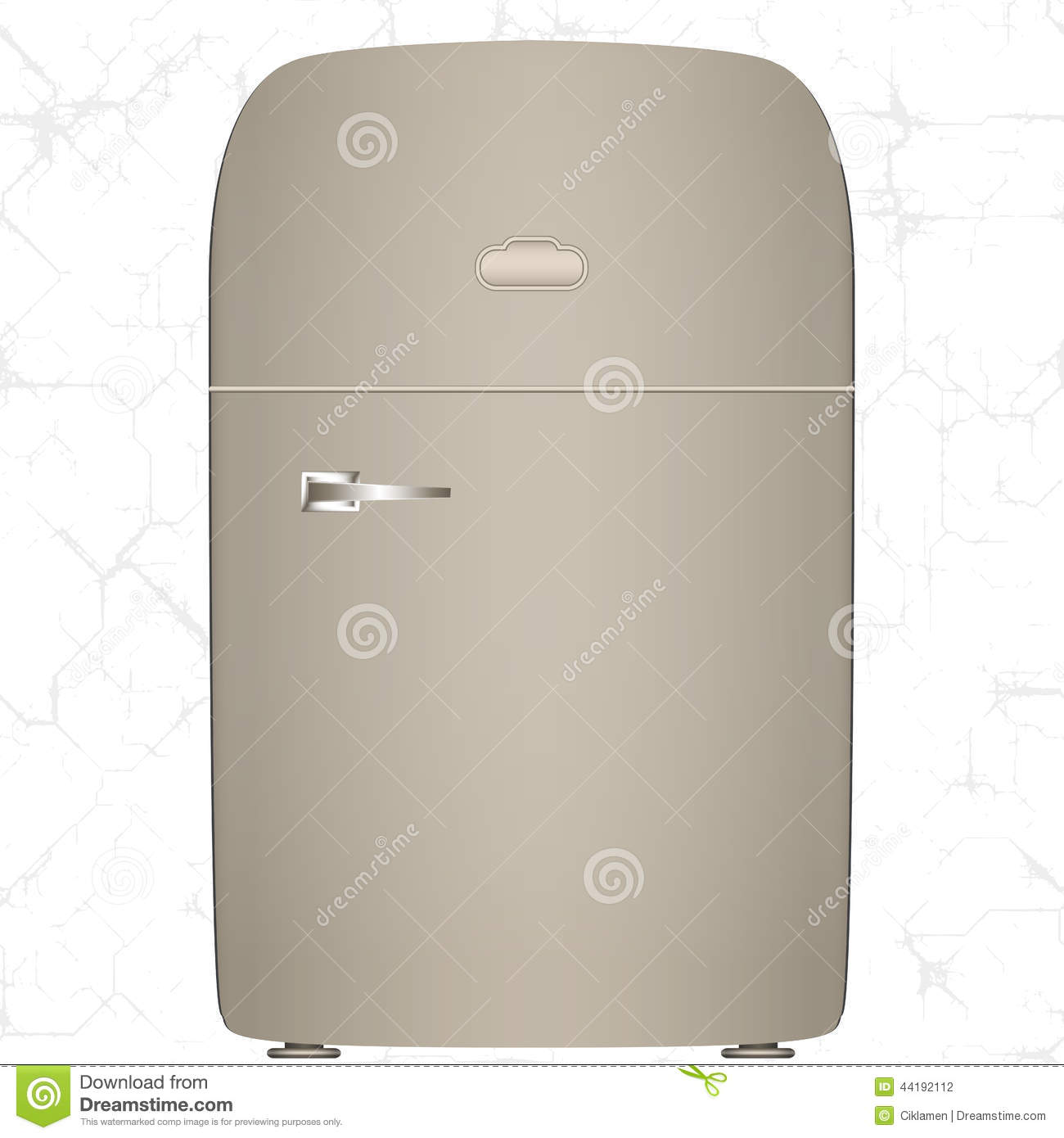 Old Refrigerator Stock Vector   Image  44192112