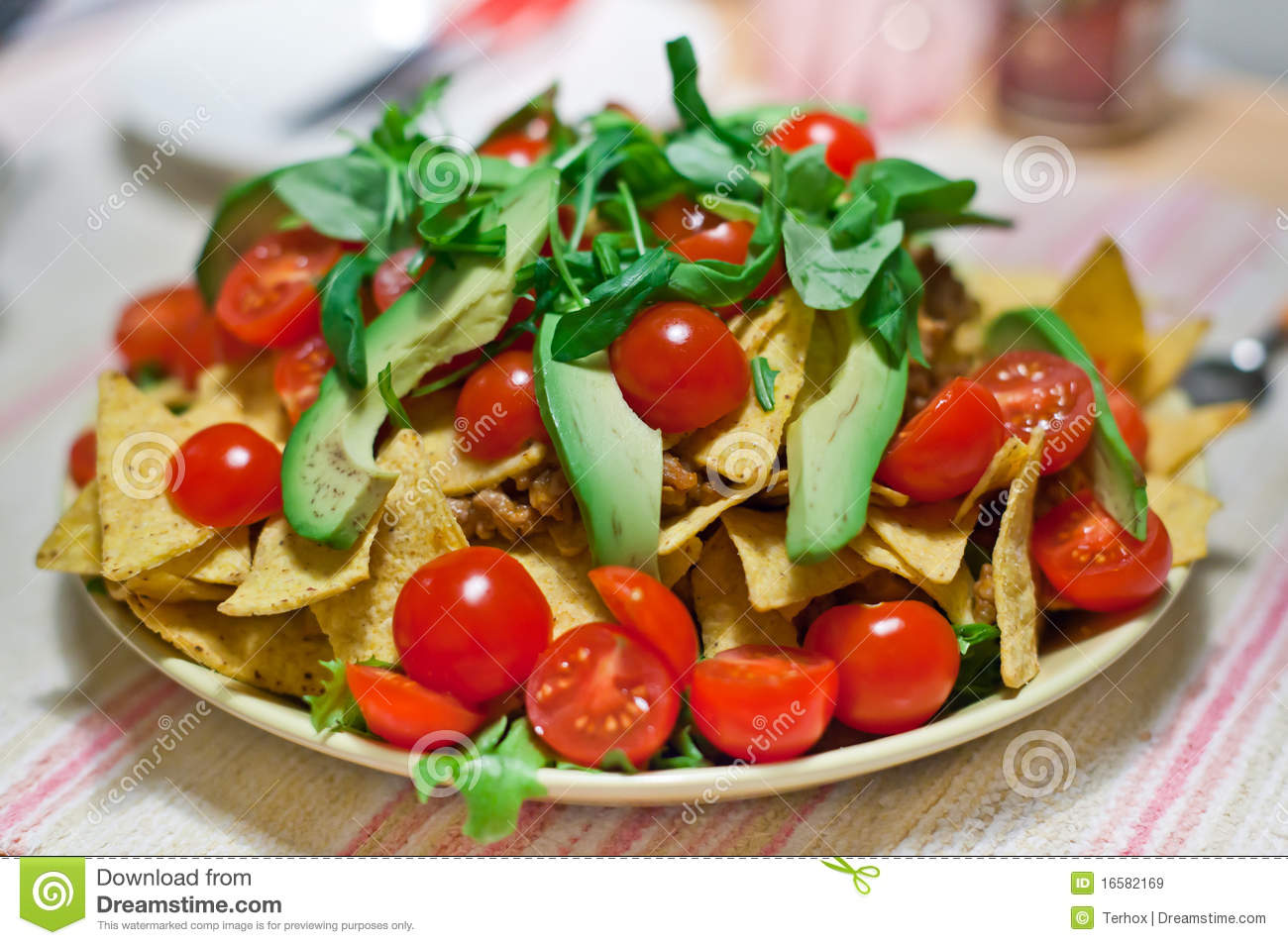 Overfilled Plate Of Food Royalty Free Stock Images   Image  16582169