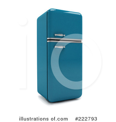 Refrigerator Clipart  222793 By Andresr   Royalty Free  Rf  Stock