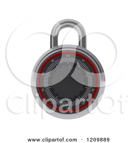 Royalty Free  Rf  Combination Lock Clipart   Illustrations  1