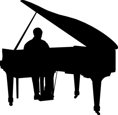 Silhouette Piano Free Cliparts That You Can Download To You Computer