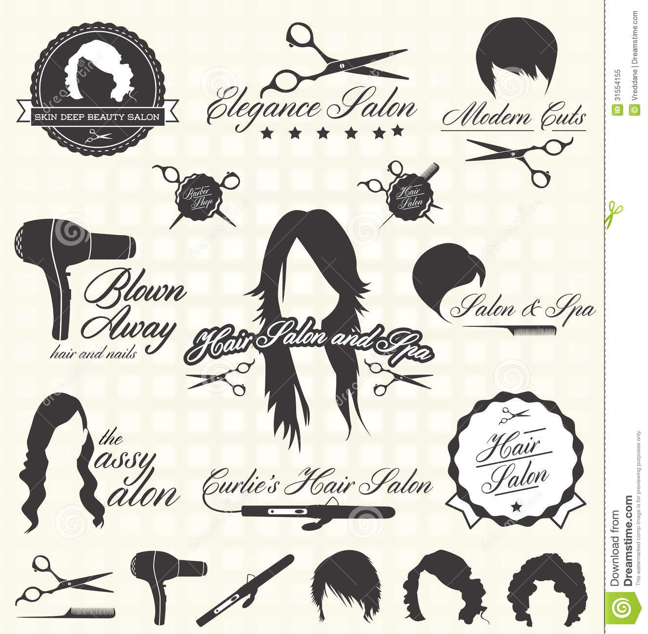 Retro Hair Salon Clipart - Clipart Kid