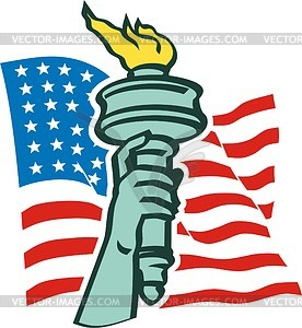The Statue Of Liberty In New York   Vector Clip Art