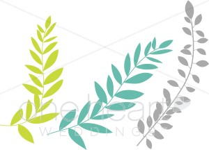 Tropical Leaves Clipart   Wedding Leaf