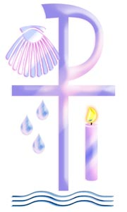 Two Hearts Design   Sacrament Of Baptism Clipart