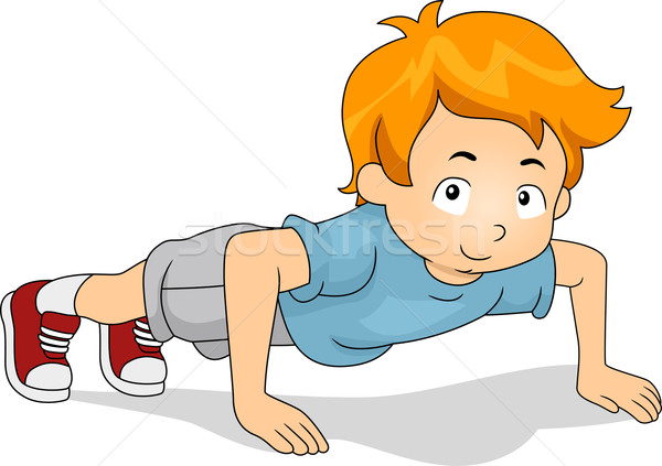 1319787 Pushup Kid By