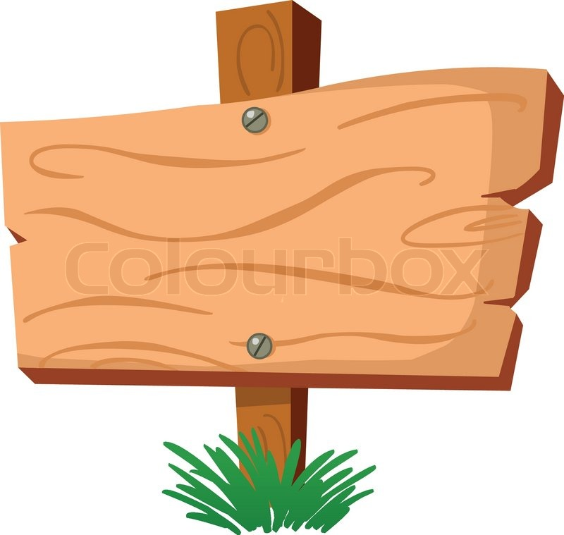 Wooden road sign clipart suggest