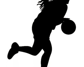 Basketball Outline Black And White Basketball Player Clip Art Cartoon