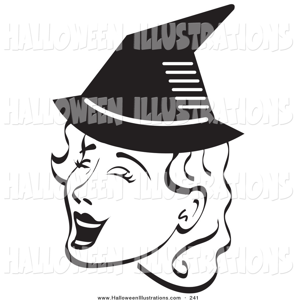Black And White Halloween Clip Art  Happy Woman Clip Art  View