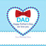 Cheek Happy Father S Day Greeting Card Mustache Hat Design
