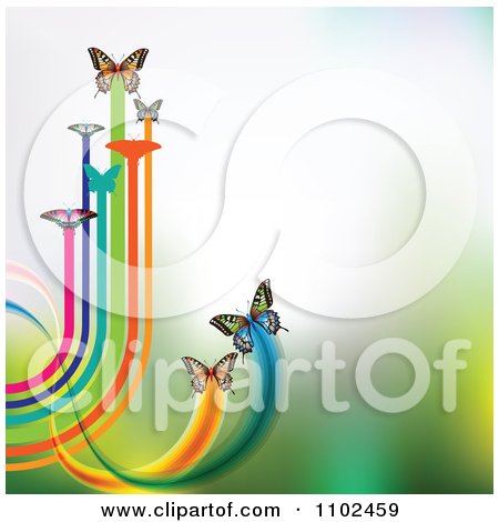 Clipart Butterfly Trail Background 1   Royalty Free Vector