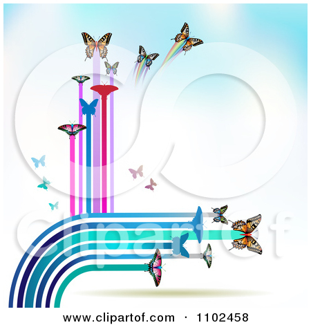 Clipart Butterfly Trail Background 10   Royalty Free Vector