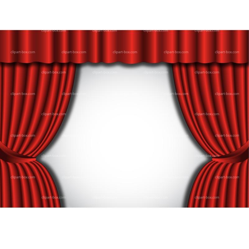 Red Curtain Clip Art