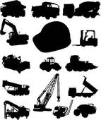 Construction And Trucks   Clipart Graphic