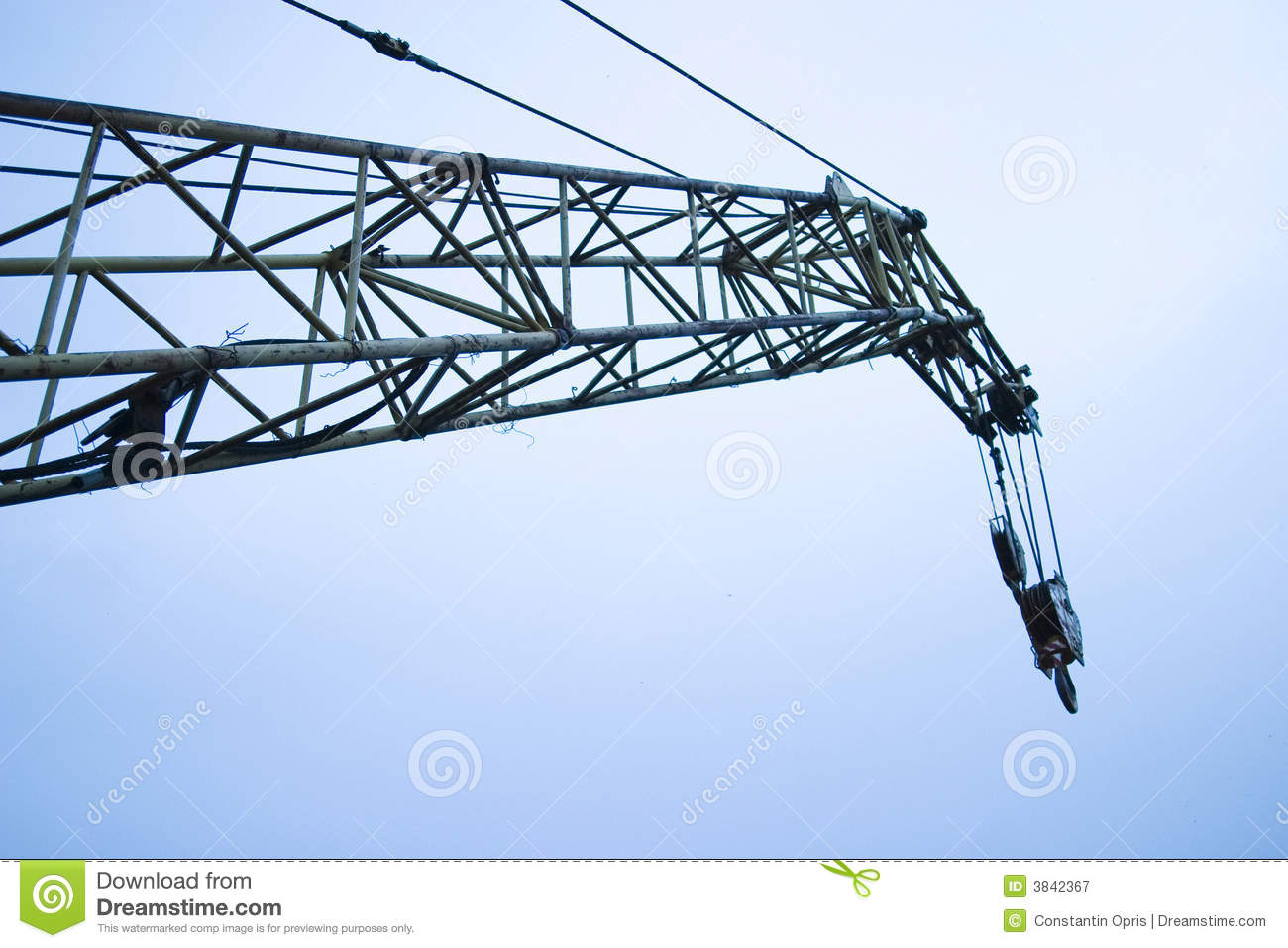 Crane Boom And Sky Royalty Free Stock Photography   Image  3842367