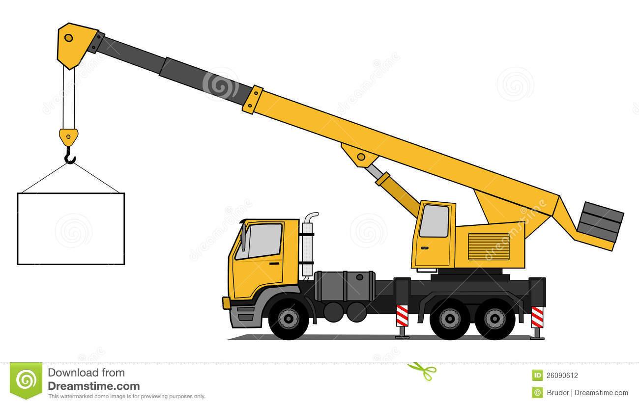 Mobile Crane Pictures : Crane boom truck clipart suggest