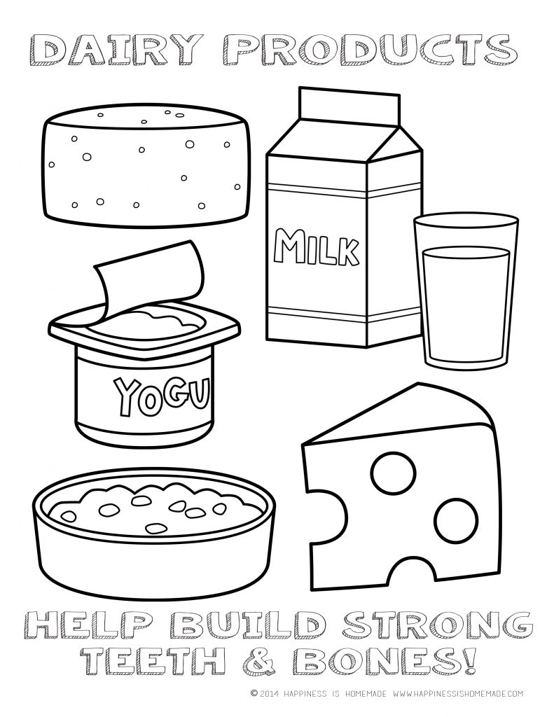 kids coloring pages nutrition foods - photo#42