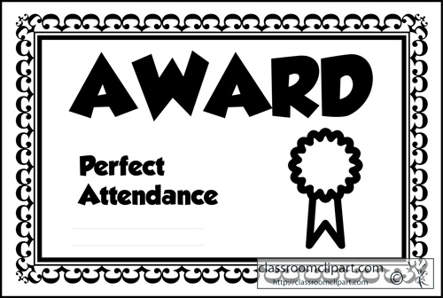 Clipart Suggest: Attendance Award Clipart