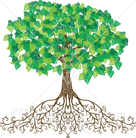 Free Rf Clipart Illustration Of A Mature Green Tree With Deep Roots