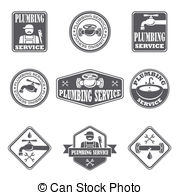 Icon Plumbing Service Clipart Vector