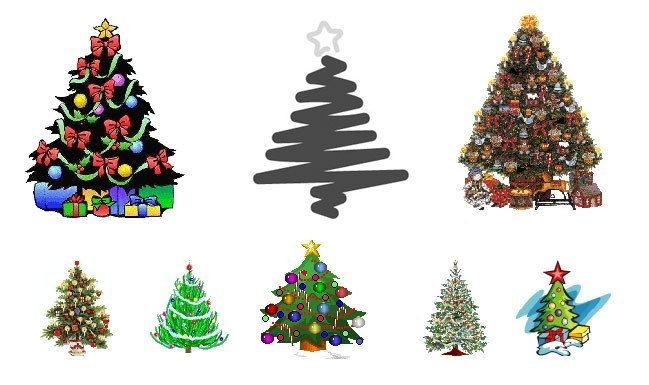 Moving Christmas Tree Clipart