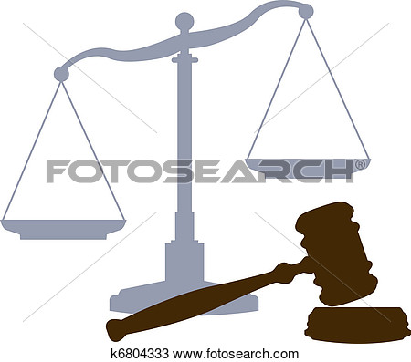 Scales And Gavel As Symbols Of The Law Lawyers And The Legal Justice