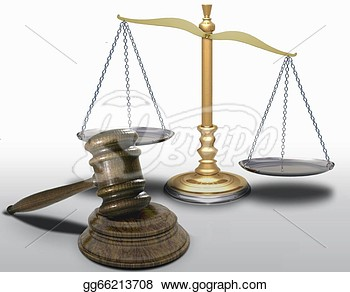 Scales Of Justice And Gavel Clipart Stock Illustration   Gavel