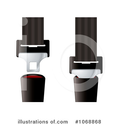 Seat Belt Clipart  1068868 By Michaeltravers   Royalty Free  Rf  Stock
