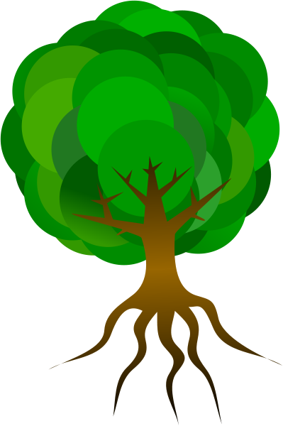 Simple Tree 1 Clipart Medium Size
