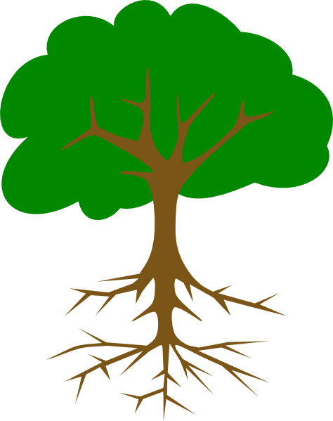 Tree With Roots Clip Art At Clker Com   Vector Clip Art Online