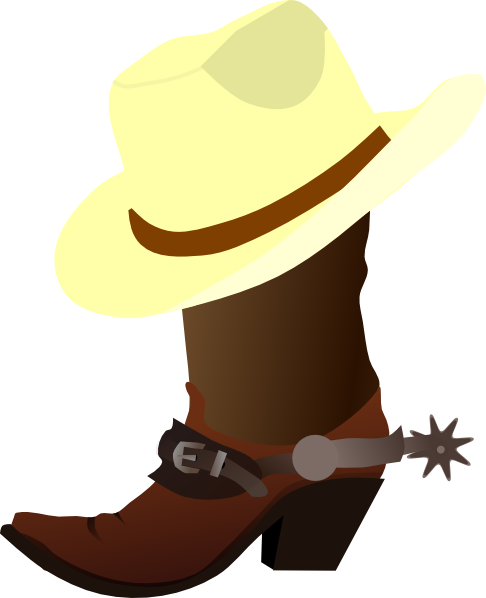 White Cowboy Hat And Boots Clip Art At Clker Com   Vector Clip Art