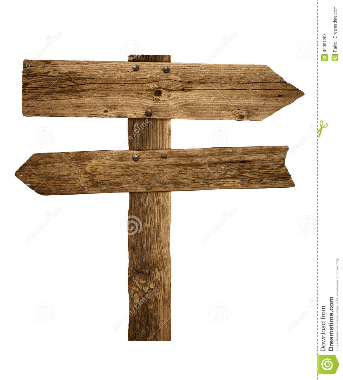 Wooden Post: Wooden Road Sign Clipart